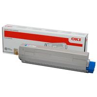 OKI cartridge: Toner voor C831 / C841, Cyan, 10000 Pagina's - Cyaan