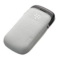 BlackBerry mobile phone case: Leather Pocket, Curve 9220/9310/9320 - Wit