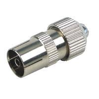 Schwaiger coaxconnector: KST25 531 - Zilver