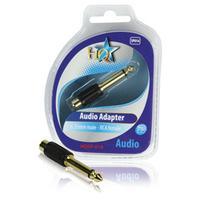 HQ kabel adapter: 6.35mm M/F RCA - Zwart