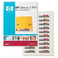 Hewlett Packard Enterprise barcode label: HP Ultrium 3 RW Bar Code Label Pack (Sparepart)