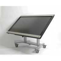 ErgoXS TV standaard: 77 - 144 cm, max 70 kg, VESA 800 x 400 mm - Zilver