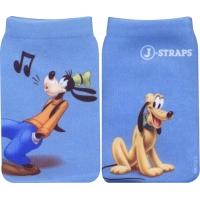 J-Straps mobile phone case: Socke, Goofy and Pluto - Blauw