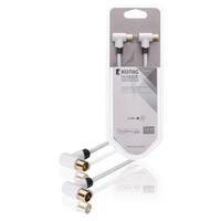 König coax kabel: KNS40020W30 - Wit