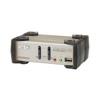 Aten KVM switch: KVM 2p. Desktop KVMP USB incl. cable 5in 1 - Grijs