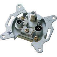 Schwaiger wandcontactdoos: RDS808 011 - Metallic