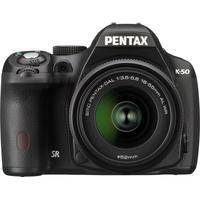 Pentax K 50 Kit + DAL 18-55mm WR + 50-200mm WR - Systeemcamera - Zwart