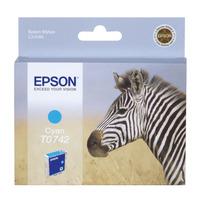 Epson inktcartridge: inktpatroon Cyan T0742 - Cyaan