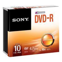 Sony Dvd+r, 10 stuks (10DMR47SS)