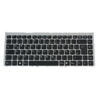 Sony notebook reserve-onderdeel: Keyboard (ENGLISH) - Zwart, Grijs