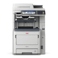 OKI multifunctional: MB770dnfax - Grijs, Wit
