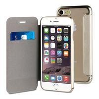 Muvit mobile phone case: Folio Case, Apple iPhone 7, 69g, Gold - Goud