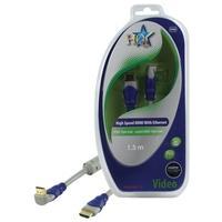 HQ HDMI kabel: SV-405-1.5 - Blauw, Grijs