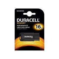Duracell RAM-geheugen: 16GB USB2.0 Push - Zwart