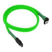 Nanoxia Kabel Nanoxia SATA 6Gb/s Kabel schuine 30 cm, neon-groen (NXS6G30NG)