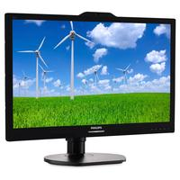 Philips monitor: Brilliance LCD-monitor - Zwart