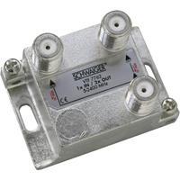 Schwaiger kabel splitter of combiner: VTF7762 531 - Zilver