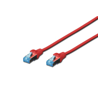Digitus netwerkkabel: Patch Cable, SFTP, CAT5E, 0.5 M, red