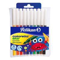 Pelikan viltstift: Colorella Star fine C 302/10 - Multi kleuren
