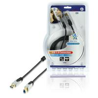 HQ USB kabel: 1.3m USB 3.0 A/B