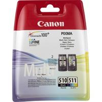 Canon inktcartridge: PG-510 / CL-511 - Zwart, Cyaan, Magenta, Geel