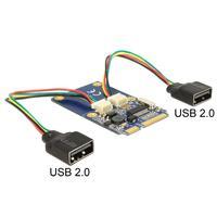 DeLOCK interfaceadapter: Module MiniPCIe I/O full size 2 x USB 2.0 type A female