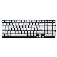 ASUS Keyboard (Nordic), 302mm, Isolation, Silver frame Notebook reserve-onderdeel - Zilver