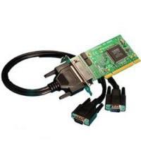 Brainboxes seriele kabel: CC-191 LP DUAL CABLE 44 WAY D TO 2 X 9 PIN RS232 - Zwart