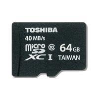Toshiba flashgeheugen: MicroSDXC 64GB Class 10 - Zwart