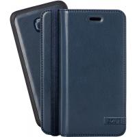Azuri mobile phone case: Luxe wallet met magnetische cover voor Samsung Galaxy S6 (blauw)