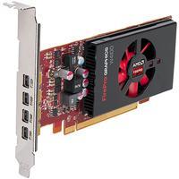DELL AMD FirePro W4100, 2GB GDDR5, 128-bit, DirectX 11.2, OpenGL 4.4 videokaart - Zwart, Rood