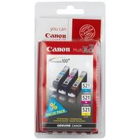 Canon inktcartridge: CLI-521 C/M/Y - Cyaan, Magenta, Geel