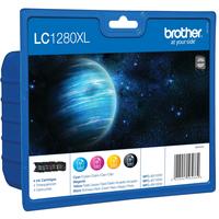 Brother inktcartridge: LC-1280XLVALBPDR - Zwart, Cyaan, Magenta, Geel