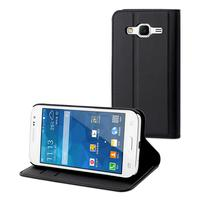 Muvit mobile phone case: Slim folio stand case Samsung Galaxy Core Prime - Zwart