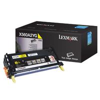 Lexmark toner: X560 4K gele printcartridge - Geel