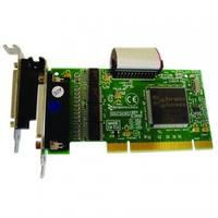 Brainboxes interfaceadapter: 4 x RS232, 9 Pin (M), 1 x LPT, PCI 3.0 - Groen