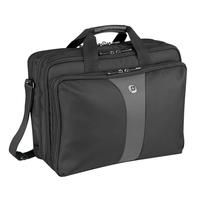 "Wenger/SwissGear laptoptas: LEGACY 17"" Laptop Triple Compartment Case with Airport Friendly Notebook Compartment, Black ....."