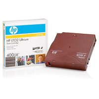 Hewlett Packard Enterprise datatape: HP Ultrium 400GB Non-custom Label 20 Pack - Rood