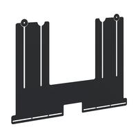 Iiyama Universele soundbar-beugel voor vloerliften en muurbeugels Muur & plafond bevestigings accessoire - Zwart