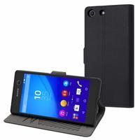 Muvit mobile phone case: Slim S Folio Case Black for Sony Xperia M5 - Zwart
