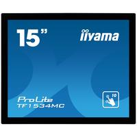 "Iiyama touchscreen monitor: ProLite 38.1 cm (15 "") TN LED, Capacitive, Multitouch, 1024 x 768, 5 : 4, 5 ms, 1000:1, 350 ....."