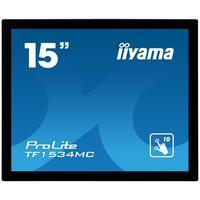 "Iiyama touchscreen monitor: ProLite 38.1 cm (15 "") TN LED, Capacitive, Multitouch, 1024 x 768, 5 : 4, 5 ms, 1000:1, 350 ....."