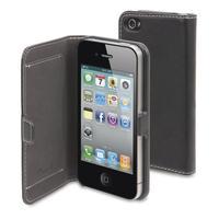 Muvit mobile phone case: Folio Slim Case for Apple iPhone 4/4s - Smooth Black - Zwart