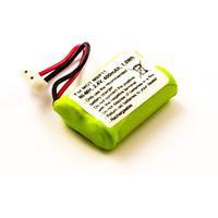 MicroBattery batterij: 1Wh Baby Monitor Battery, NiMH 2.4V 400mAh - Zwart, Groen, Rood, Wit