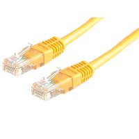 ROLINE UTP Patchkabel Cat. 5e, geel 0,5m netwerkkabel