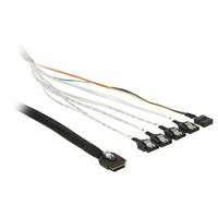 DeLOCK 0.5m, SFF-8087/4 x SATA 7p Kabel - Multi kleuren