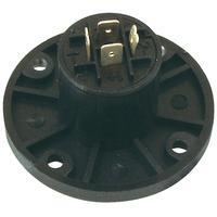 Valueline Speaker chassis round(4p) Kabel connector - Zwart