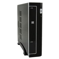 LC-Power behuizing: Mini-ITX, Metal, 3.08kg, Black - Zwart