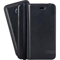 Azuri mobile phone case: Luxe wallet met magnetische cover voor Samsung Galaxy S6 (zwart)