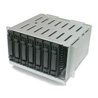 IBM behuizing: 16 to 24 2.5-inch SFF Hot-Swap SAS/SATA HDD Upgrade Kit - Zwart, Roestvrijstaal